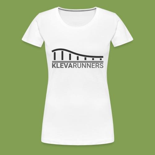 Kleva Runners Logo - Premium-T-shirt dam