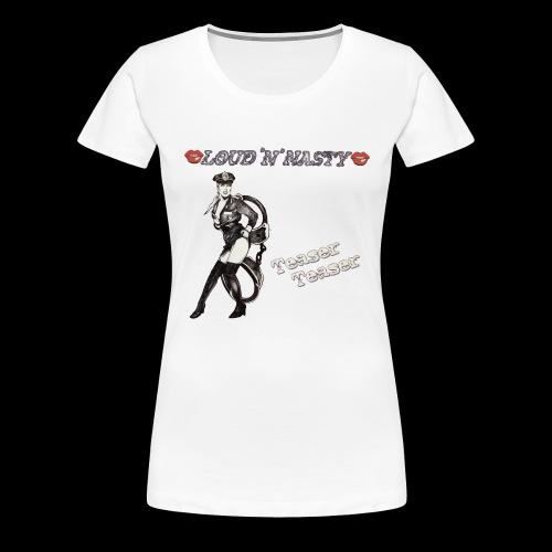 Teaser-Teaser - Premium-T-shirt dam