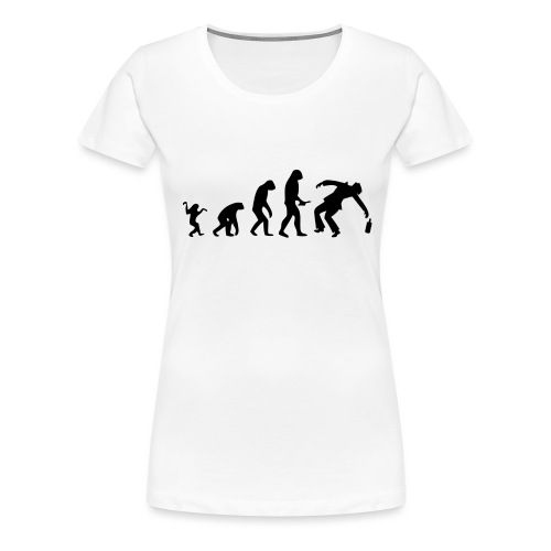 Evolution of Human to a alcoholic - Frauen Premium T-Shirt