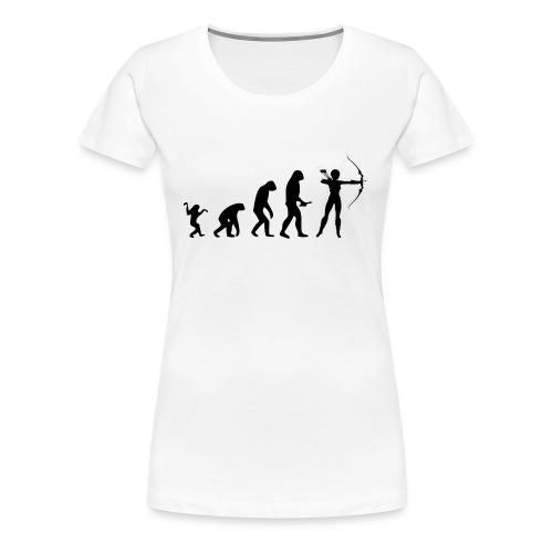 Evolution of Human to a Archer - Frauen Premium T-Shirt
