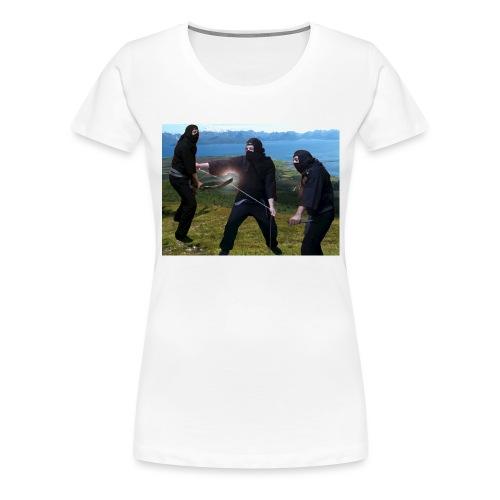Chasvag ninja - Premium T-skjorte for kvinner