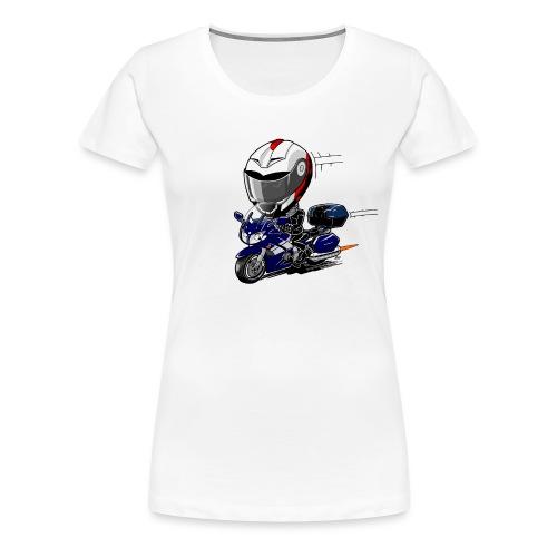 FJR OceanBlue helm en kofferset - Vrouwen Premium T-shirt