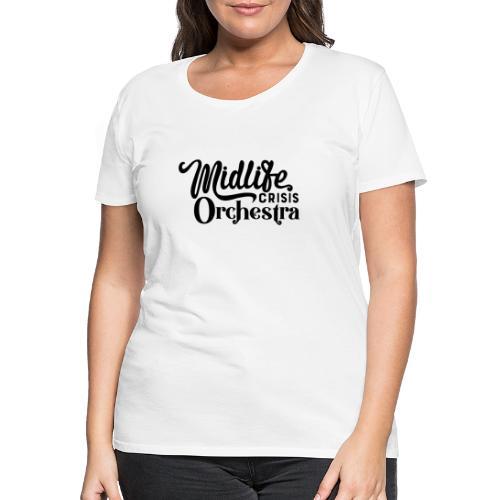 Midlife Crisis Orchestra svart logo - Premium-T-shirt dam