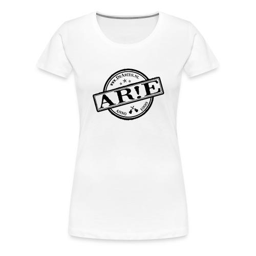 Backdrop AR E stempel zwart gif - Vrouwen Premium T-shirt