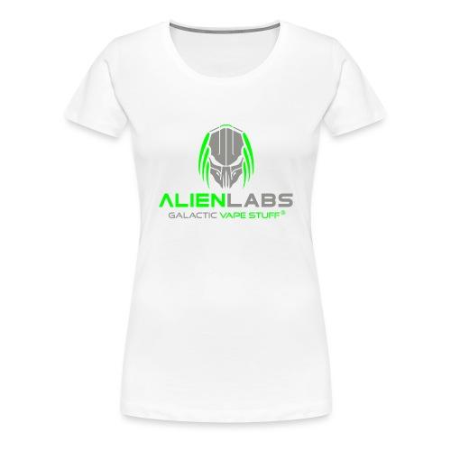 ALIEN LABS LOGO gra/wht - Frauen Premium T-Shirt