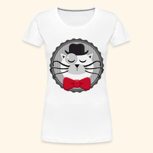 Chat vintage sherlock - T-shirt Premium Femme