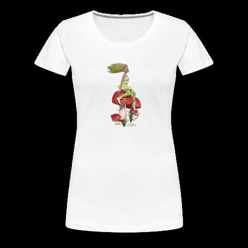 Champignons et lutine - T-shirt Premium Femme