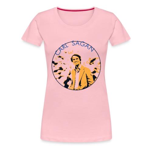 Vintage Carl Sagan - Women's Premium T-Shirt