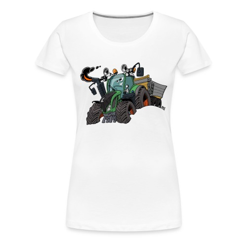 F 718Vario met kar - Vrouwen Premium T-shirt