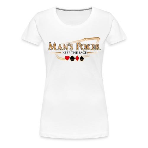 Mans Poker LQ fond clair - T-shirt Premium Femme