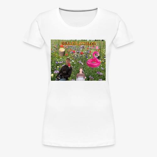 Sulleslotsblog - Dame premium T-shirt