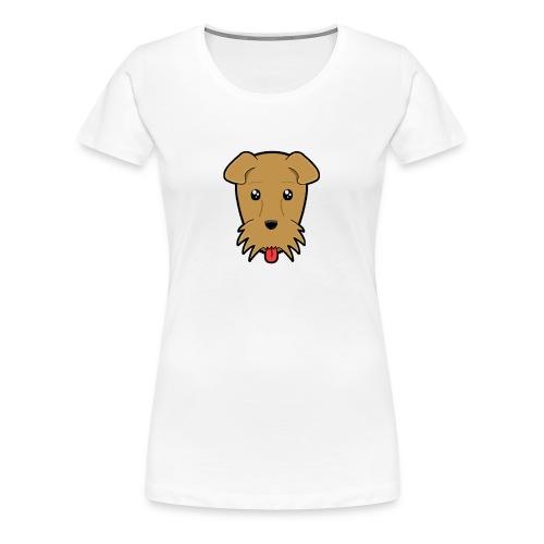 Shari the Airedale Terrier - Women's Premium T-Shirt