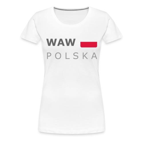 WAW POLSKA dark-lettered 400 dpi - Women's Premium T-Shirt