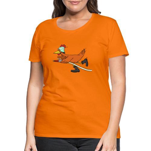 Flori Hahn löscht - Frauen Premium T-Shirt