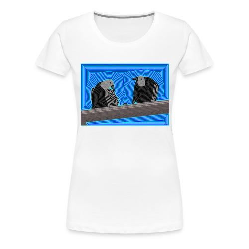 Aves en lineas - Camiseta premium mujer