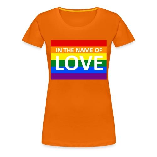 IN THE NAME OF LOVE CAP - Dame premium T-shirt