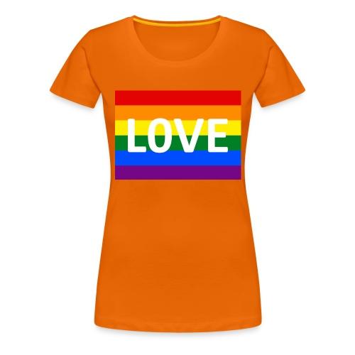 LOVE BELT BAG - Dame premium T-shirt