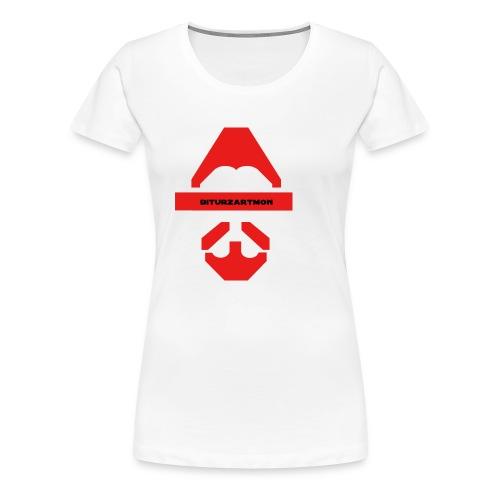 Biturzartmon Logo rot glatt - Frauen Premium T-Shirt