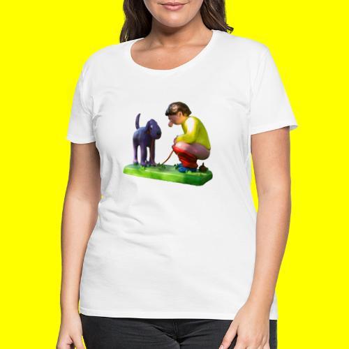 Mannetje Poep vrijstaand - Vrouwen Premium T-shirt