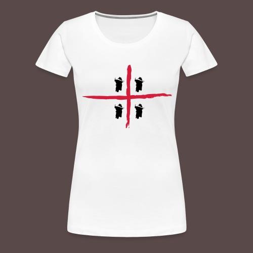 Sardegna Bendata, 4 Mori orizzontale - Maglietta Premium da donna