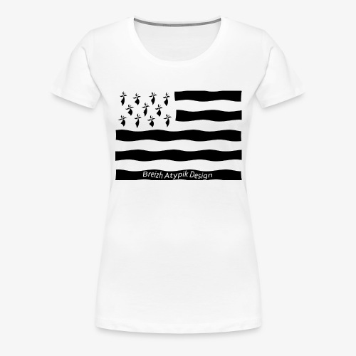 Gwenn ha Du B W - T-shirt Premium Femme