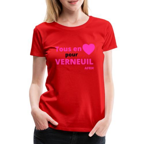 Tous en coeur pour Verneuil - T-shirt Premium Femme