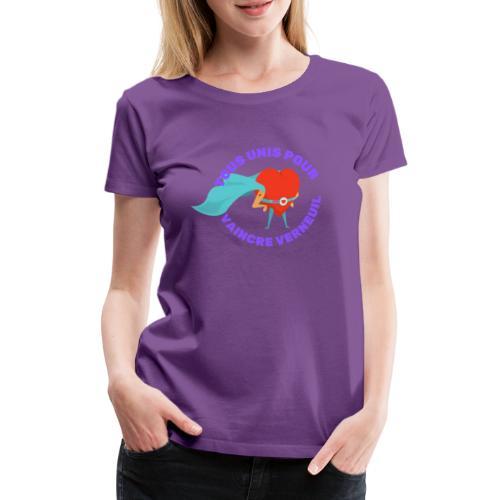 Tous Unis pour Vaincre verneuil violet - T-shirt Premium Femme