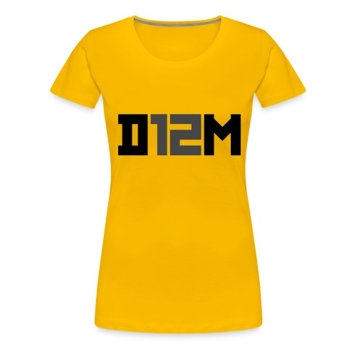 D12M: SHORT BLACK - Vrouwen Premium T-shirt