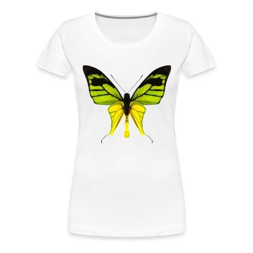 LowPoly Ornithoptera Paradisea - Premium-T-shirt dam