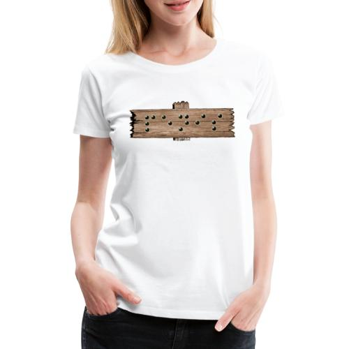 Penis - Blindenschrift - Frauen Premium T-Shirt