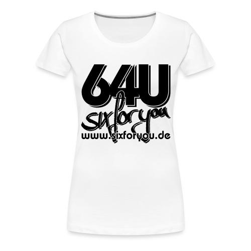 64u www sw - Frauen Premium T-Shirt