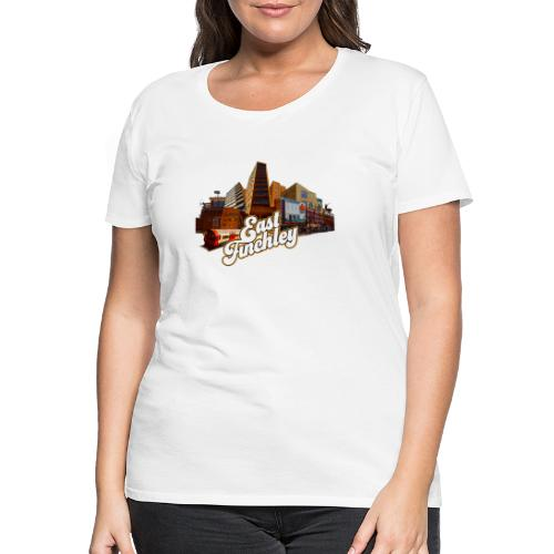 East Finchley Retro Montage - Women's Premium T-Shirt