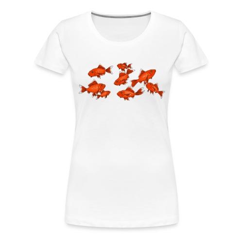 Les petits poissons rouges - T-shirt Premium Femme