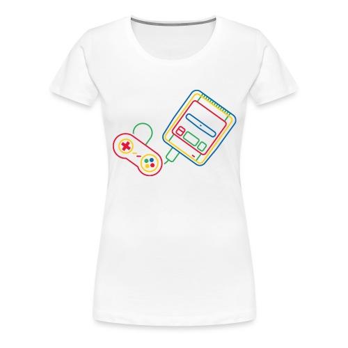 Super NES - Couleur - T-shirt Premium Femme