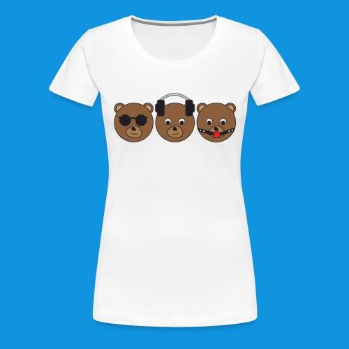 3 Wise Bears - Women's Premium T-Shirt