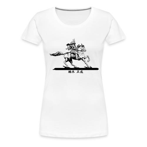 Kusunoki Masashige Black - T-shirt Premium Femme