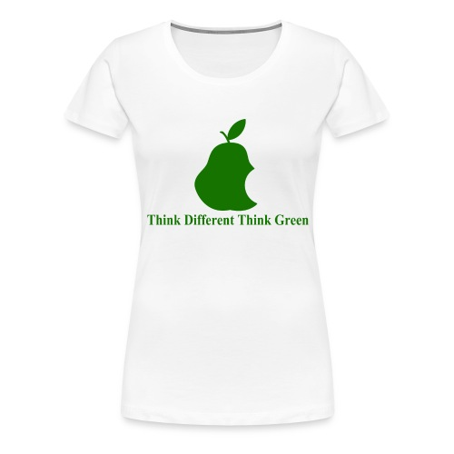 Think different, think green II - T-shirt Premium Femme
