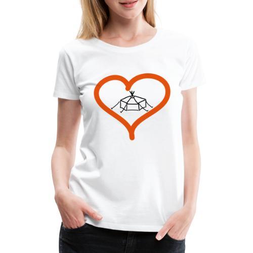 Herzjurte - Frauen Premium T-Shirt
