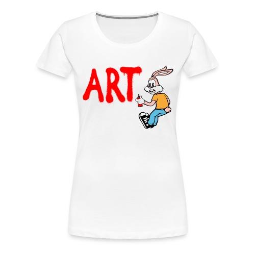 Serge Le Lapin graffeur - T-shirt Premium Femme
