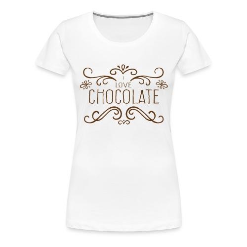 I Love Chocolate - T-shirt Premium Femme
