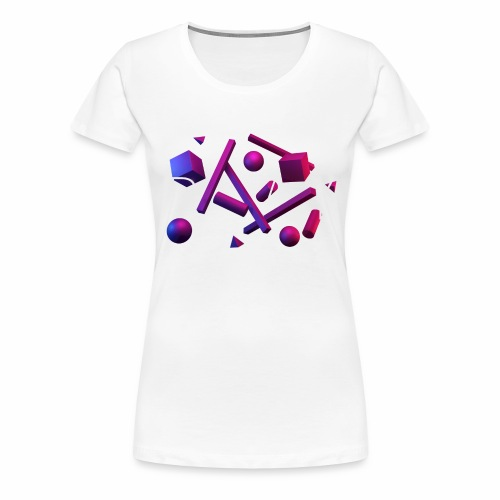 Play - geometric shapes - Frauen Premium T-Shirt