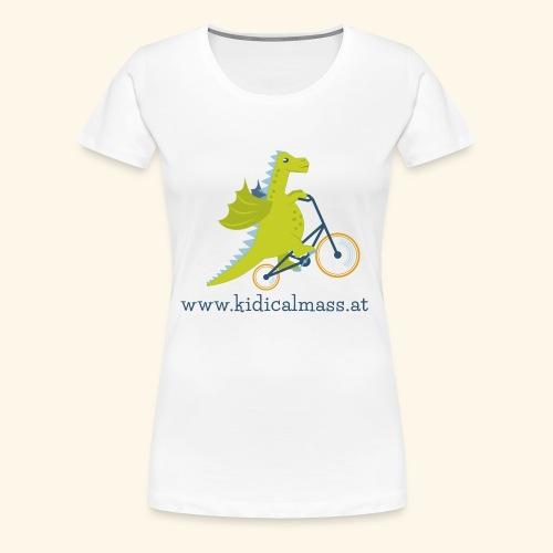 Musikdrache für hellen Hintergrund - Frauen Premium T-Shirt