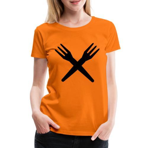 gekruiste frietvorken - trident - T-shirt Premium Femme