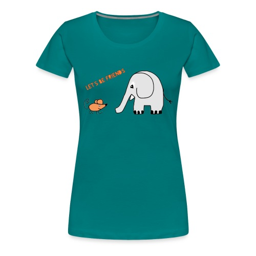 Elephant and mouse, friends - Women's Premium T-Shirt