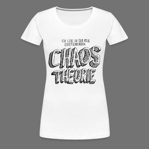 Chaos Theory (musta) - Naisten premium t-paita