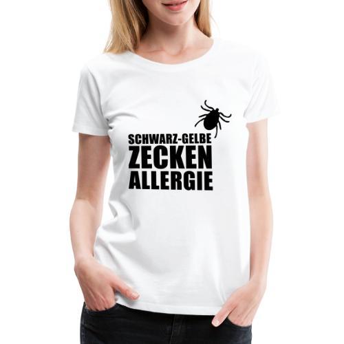 Schwarz-Gelbe Zeckenallerie - Frauen Premium T-Shirt