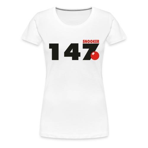 147 Snooker - Frauen Premium T-Shirt
