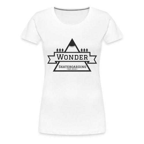 Wonder T-shirt: mountain logo - Dame premium T-shirt