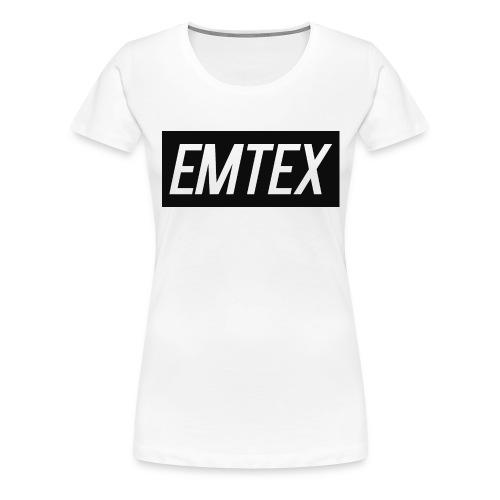 emtexshirtlogo - Dame premium T-shirt