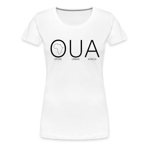 OFORI URBAN AFRICA OUA logo WHITE back png - Women's Premium T-Shirt